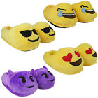 Ladies Womens Emoji Novelty Funky Warm Comfy Stuffed Slippers Indoor Shoes Size