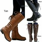 New Women GSra Adjustable Lace Knee High Western Riding Cowboy Boots sz 6 to 11