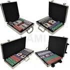 100 200 500 OR 1000 CHIP POKER SETS TEXAS HOLD'EM CARD GAMES CASINO CARRY CASE
