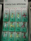12 Dolphin Cocktail Spinners Assorted 1/32 Oz Fishing Lures NIP rooster tail