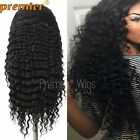 Glueless Full Lace Wigs Curly Deep Wave Natural Color 100% Indain Remy Hair