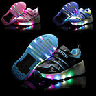 Unisex Girls Boys Shoes Retractable Wheels Roller Skate LED Shoes Sneakers UK