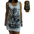 Unisex Tiger Vest Tank Top Singlet Dress Sleeveless T-Shirt