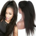 Full/Front Lace Wigs Italia Yaki Remy Human Hair Wigs baby hair bleach knots