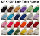 Внешний вид - 10pcs Wedding 12 X 108 inch Satin Table Runner Banquet decoration FREE SHIPPING