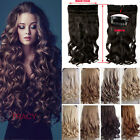 Real Thick 24-26 Inch 3/4 Full Head Clip In Hair Extensions Brown Blonde 1b11