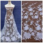 Off white large flowers wedding dress lace fabric 51'' width by yard