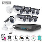Tecbox 4CH 8CH 720P HDMI AHD Video Home Security Camera System 1.3MP Cameras