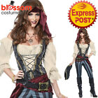 CA134 Ladies Brazen Buccaneer Pirate Wench Maiden Womens Fancy Dress Up Costume