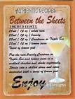 RETRO METAL PLAQUE :Between the Sheets Cocktail sign/ad