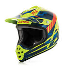 ACERBIS IMPACT 3.0 JUNIOR HELMET BLUE/FLUO YELLOW KIDS YOUTH CHEAP MOTOCROSS MX