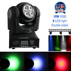 US LED RGBW Double Sides Moving Head Stage Light 80W DMX512 DJ Disco Lamp Rotate
