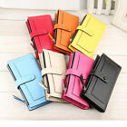 Lady Women Leather Clutch Bifold Wallet Long Card Holder Case Coin Purse Handbag