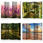 DECORATIVE PHOTO FOLDING SCREEN WALL ROOM DIVIDER ABSTRACTION LANDSCAPE