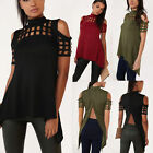 Fashion Women Short Sleeve Loose Casual feather Print T-shirt Tops Blouse Plus