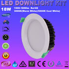 1/6pcX Dim 18W LED Downlight Kit Recessed White Warm or Cool White Five Warranty