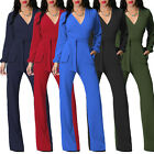2017 Women Ladies New Elegant Long Sleeve V Neck Casual Jumpsuit Playsuit Romper