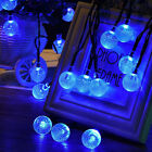 30-LED Ball Solar Powered String Christmas Light For Outside Patio Party Outdoor