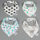 4Pcs Infant Kids Baby Unisex Feeding Bibs Saliva Towel Dribble Triangle Bandana