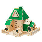 Construction 3D Wooden House Puzzle DIY Building Model Toy Craft for Kids Adult