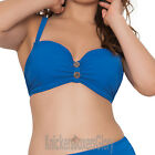 Curvy Kate Luau Love Padded Balcony Bikini Top Deep Sea Blue CS1911 Select Size