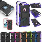 Hybrid Gel Hard Impact Protective Tough Back Stand Case Cover For iPhone 7/Plus