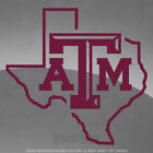 """Texas A&M Aggies State Vinyl Decal Sticker - 4"""" and Up"""