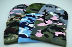Military Style Beanie Camo Watch Cap Hunting Camp Ski Army Green Blue Grey Pink