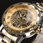 6 Colors Steampunk Skeleton Mechanical Stainless Men's Wrist Watch - Mens Gift