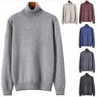 Mens New Fashion Dandy Pola Turtleneck Knit Sweater Long Sleeve Top E045 XS~XL