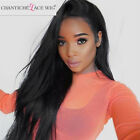 Chantiche Human Hair Lace Front Wigs Brazilian Remy Straight Full Lace Black Wig