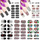 New Nail Stickers Polish Full Nail Wrap Chic Decals Manicure Accessories 1 Sheet