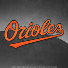 "Baltimore Orioles Jersey Logo Vinyl Decal Sticker MLB - 4"" and Larger - Glossy on Ebay"
