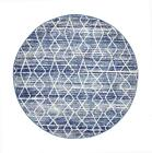 Evoke Modern Blue Round Rug Polypropylene Modern Design Power Loomed 240 x 240cm