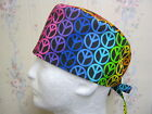 PEACE SIGN -60'S--MEN'S OR BOUFFANT SCRUB HAT/MEDICAL