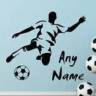 FOOTBALL wall sticker PERSONALISED NAME WALL STICKERS Wall Art Decal Quote  N41