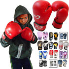 Punch Junior Boxing  bag MMA Sparring Training kick boxing Gloves kids 4/ 6/8 oZ