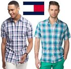 NEW MENS TOMMY HILFIGER 100% COTTON CUSTOM FIT BUTTON FRONT WOVEN SHIRT VARIETY