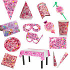 Fashion CROWN&1st DISPOSABLE PAPER PARTY TABLEWARE PINK BIRTHDAY EVENT OCCASION