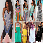 New Ladies Floral Maxi Boho Summer Long Skirt Evening Cocktail Party Dress 6-20