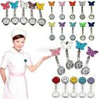 Nurse Clip-on Fob Brooch Pendant Hanging Butterfly Quartz Watch Pocket Watch New image