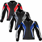 New Spada Motorcycle Bike Mens Curve Leather Protective Riding Jacket Size 40-48