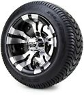 """Golf Cart Wheels and Tires Combo - 10"""" Vampire SS w/ Low Pro Tires - Set of 4"""