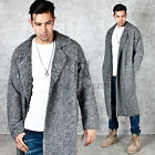NewStylish mens jacket winter Basic loose fit wool knit long coat