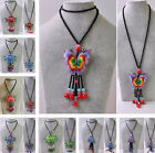 Fashion Women Necklace Sweater Long Chain Glass Charms Pendants Vintage Jewelry