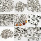 Wholesale Silver Spacer Beads For Jewellery Making European Bracelet  61 Styles