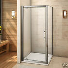 New Pivot Hinge Shower Door Enclosure and Tray Walk in 6mm Glass Screen Cubicle
