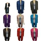 Plus Size Womens Long Sleeve Waterfall Open Front  Duster Maxi Cardigan W Hoodie