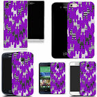 hard durable case cover for most mobile phones - purple scotty dog