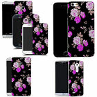 hard durable case cover for most mobile phones - purple rose